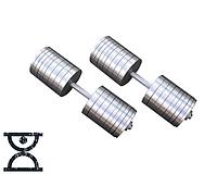 Дві гантелі сталеві з 69 кг, фото 1