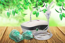 Інгалятор компресорний (небулайзер) Ulaizer Home (Юлайзер Хоум) + дитяча маска, білий (CN-02MY)