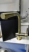 Смеситель  для кухни Blue Water Lira mosiądz antyczny с вытяжной лейкой, фото 1