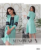 Женское элегантное платье с кружевом в расцветках больших размеров, 46 - 64