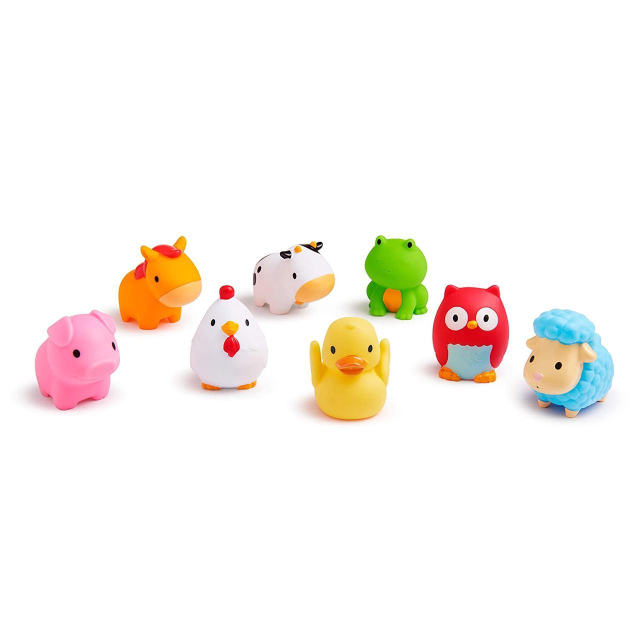 Игрушки для ванной животные Ферма Munchkin 8шт