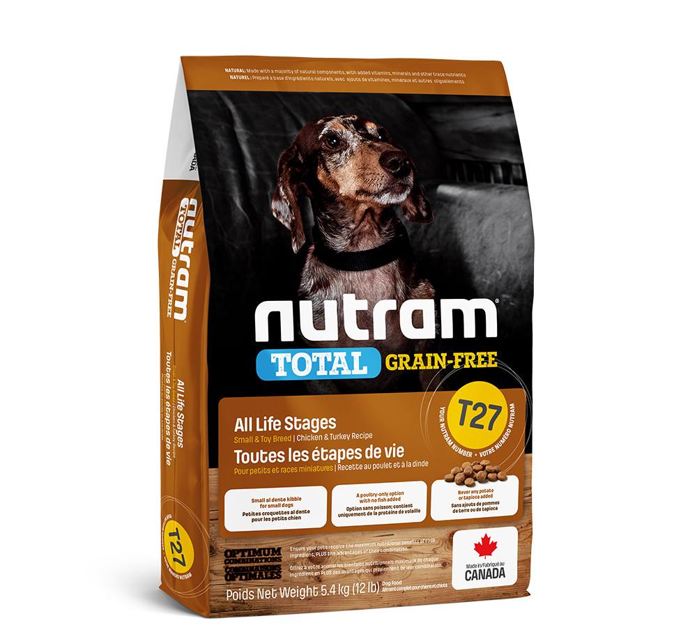 T27 NUTRAM 20kg BREEDER. Беззерновой корм для собак мелких пород с индейкой, курицей и уткой