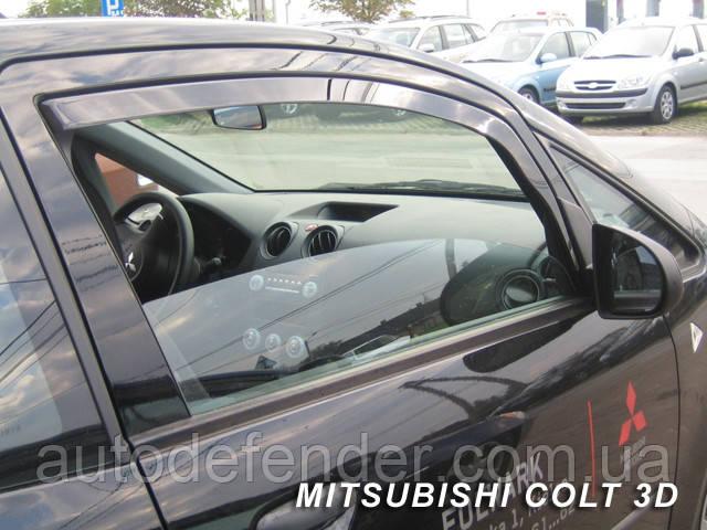 Дефлекторы окон (вставные!) ветровики Mitsubishi Colt 9 2004-2012 3D 2шт., HEKO, 23346