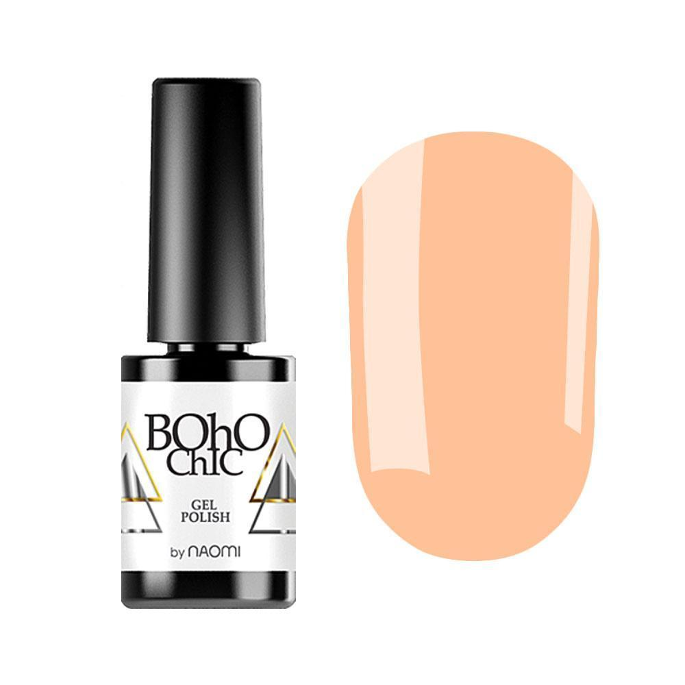 Гель-лак для ногтей Naomi Boho Chic BC030 Светло-оранжевый, 6мл