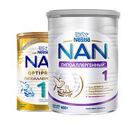 NAN 1 смесь молочная гипоаллергенная банка жестяная 400 г, с рождения