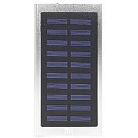 Power bank Xiaomi 20000 mAh внешний аккумулятор для цифровой техники с солнечной панелью Silver 2, КОД: 1391971