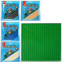 Панель - игровое поле для конструктора типа лего, 16 х 16 см, разные цвета, SLUBAN 0832