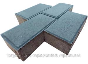 """Плитка тротуарна """"Цегла стандарт"""" Синий на белом цементе - 370 грн кв. м."""