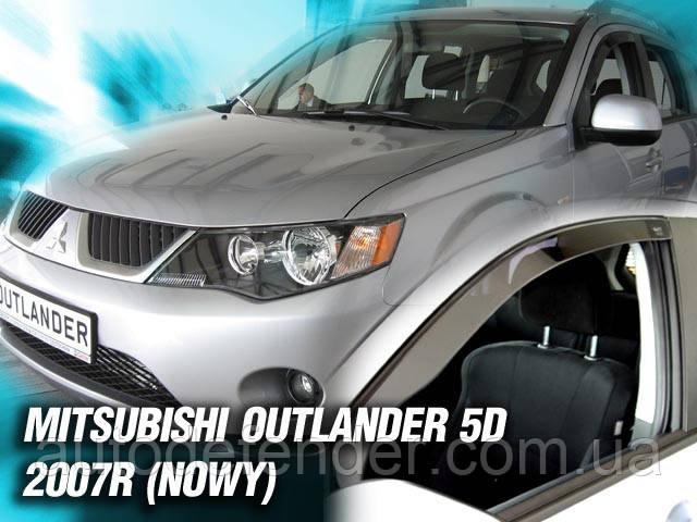 Дефлекторы окон (вставные!) ветровики Mitsubishi Outlander XL 2007-2012 4шт., HEKO, 23352