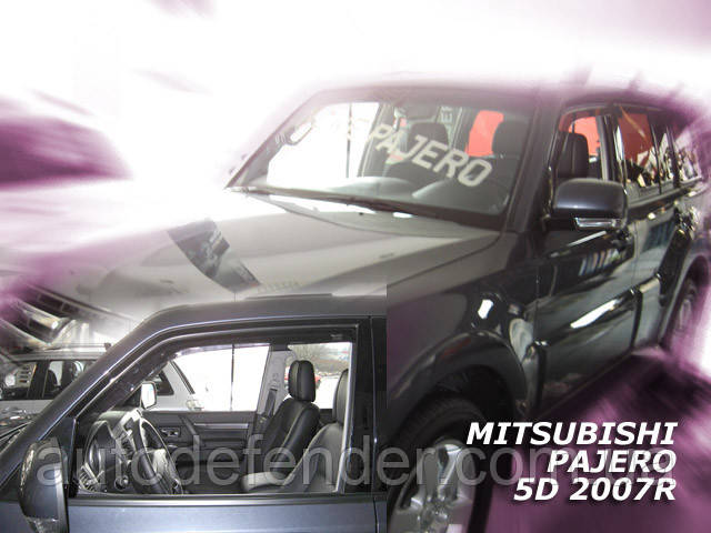 Дефлекторы окон (вставные!) ветровики Mitsubishi Pajero III 1999-2006 4шт., HEKO, 23325