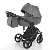 Детская коляска 2 в 1 Junama Fashion Pro 02 Темно-серая 13-JFP02, КОД: 287170