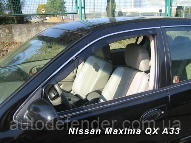 Дефлектори вікон (вставні!) вітровики Nissan Maxima (A33) 1999-2004 2шт., HEKO, 24254