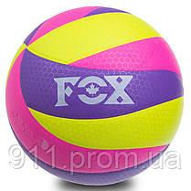 Мяч волейбольный клееный FOX SD-V8005 (PU с сотами, №5, 5 слоев)