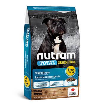 Беззерновой корм для щенков и собак с лососем и форелью T25 NUTRAM 11,4 кг