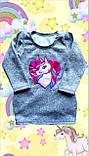 Детское платье с боковыми карманами Единорожка из ангоры, фото 4