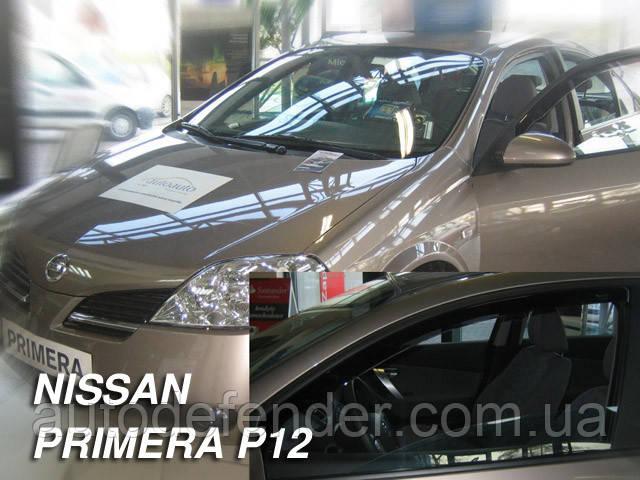 Дефлекторы окон (вставные!) ветровики Nissan Primera (P12) 2002-2007 4D 4шт., HEKO, 24271