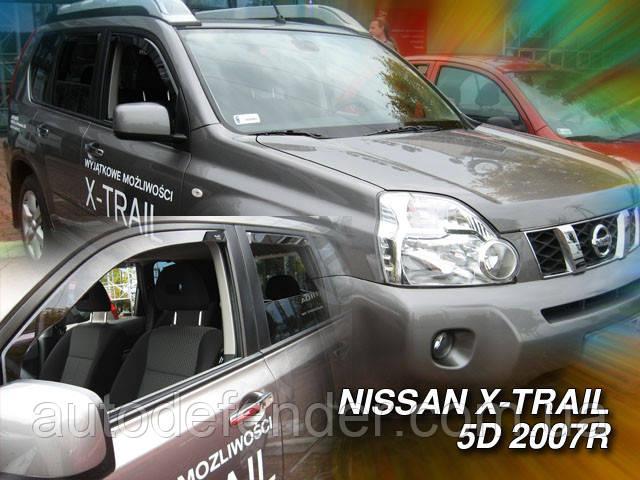 Дефлектори вікон (вітровики) Nissan X-Trail T31 2007-2016 / вставні, 4шт/, HEKO, 24268