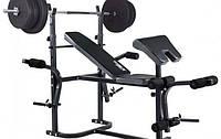 Лава для жиму + Штанга з прямим грифом 50 кг RN-Sport