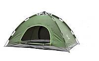 Палатка туристическая автомат 4-х местная зелёная