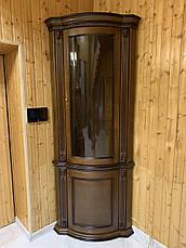 Витрина Платина однодверная угловая радиусная, фото 2