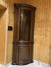 Витрина Платина однодверная угловая радиусная, фото 3