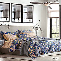 Комплект постельного белья Вилюта 17107 евро Сине-коричневый hubSFSC18857, КОД: 1384029