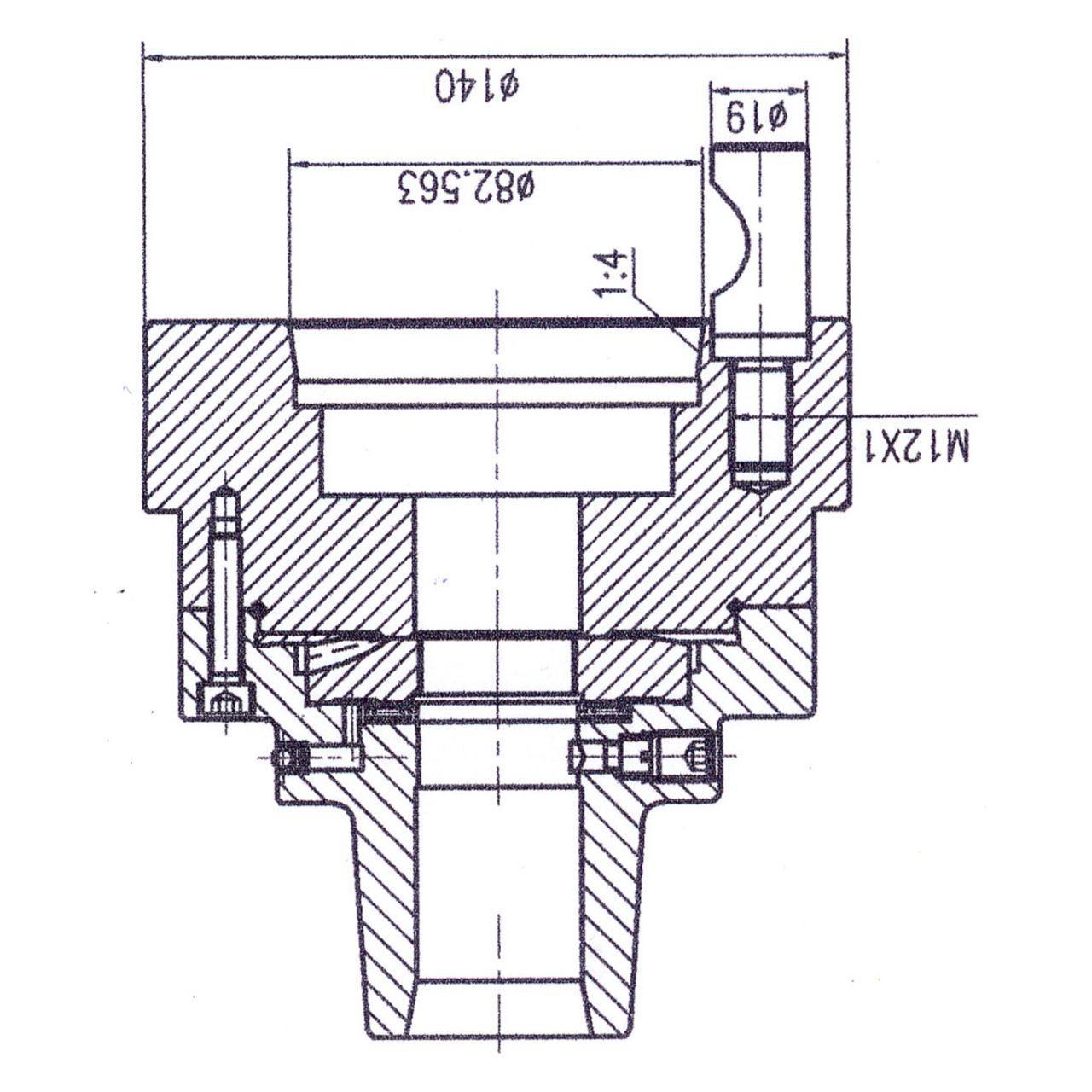 Цанговый патрон 5C с креплением D1-5 Bernardo