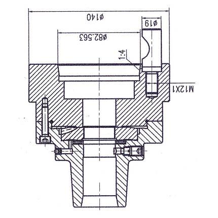 Цанговый патрон 5C с креплением D1-5 Bernardo, фото 2