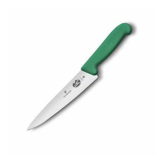 Ніж кухонний Victorinox Fibrox Carving обробний 15 см зеленый (Vx52004.15)