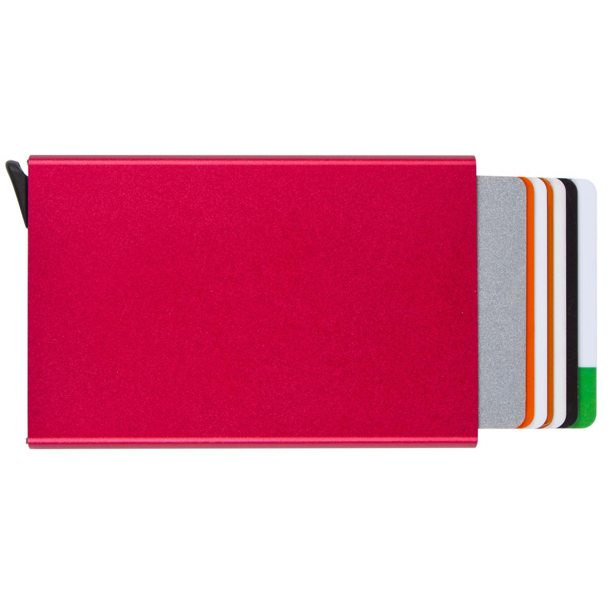 Металлический картхолдер BagHouse 95х62х9 цвет бордовый металлик м КХМбор