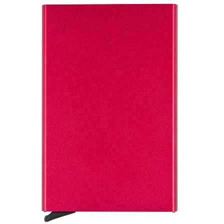 Металлический картхолдер BagHouse 95х62х9 цвет бордовый металлик м КХМбор, фото 2