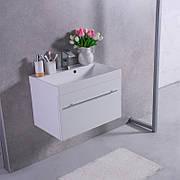 Комплект Корсика 70, шкафчик с умывальником торговой марки Fancy Marble. Размер шкафчика 695x445х470 мм