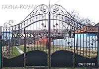 Кованые ворота с калиткой всередине 192., фото 1