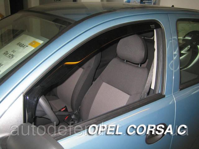 Дефлекторы окон (вставные!) ветровики Opel Corsa C 2000-2006 5D 4шт., HEKO, 25366