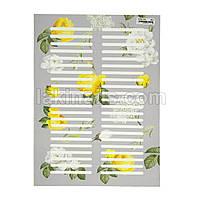 """Наклейки на типсы для подписи номера гель-лака """"Розы"""", 44 шт на листе"""