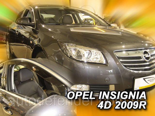 Дефлекторы окон (вставные!) ветровики Opel Insignia A 2009-2016 4D 4шт. sedan-hatchback, Lider, 25380