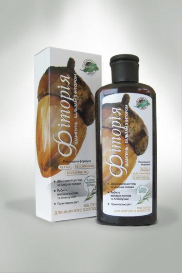 "Шампунь-бальзам ""Фитория"" з маслом чайного дерева від лупи для жирного волосся 250мл"