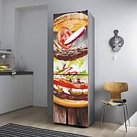 """Виниловая наклейка на холодильник.""""Бургер"""""""
