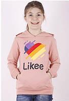 {есть:8 лет} Толстовка Likee для девочек, 8-14 лет. Артикул: 16281-пудра