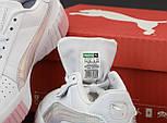 Женские кроссовки Puma Cali White Pink Gray 36-40рр. Живое фото. Реплика ААА+, фото 8