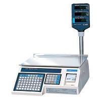 Весы с печатью этикетки CAS LP 1.6 (со стойкой)(Б/У с гарантией)