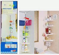 Угловая полка для ванной комнаты Multi Corner Shelf (2.6 м.)