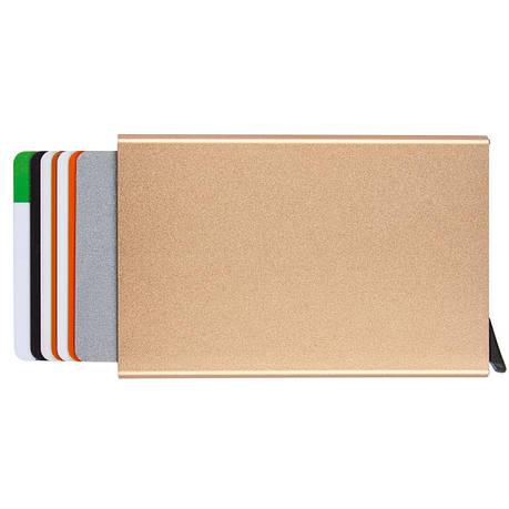 Металевий картхолдер BagHouse на 6 карт 95х62х9 золотистий колір м КХМзол, фото 2