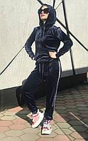 Женский темно-синий велюровый спортивный костюм Rocamoon