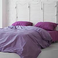 Комплект постельного белья Хлопковые Традиции Евро 200x220 Фиолетово-лиловый PF045евро, КОД: 740640
