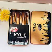 Кисточки для макияжа Kylie professional brush set 12 штук черный