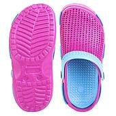 Сабо (шлепанцы пляжные) детские Spokey Fliper, розовые с голубым 31