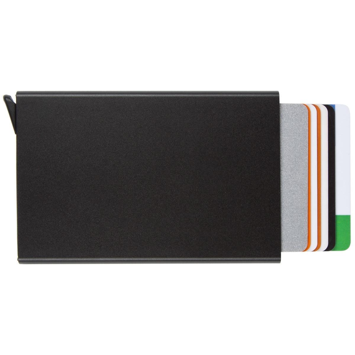 Металлический картхолдер BagHouse черный металлик размер 95х62х9 на 6 карт м КХМч