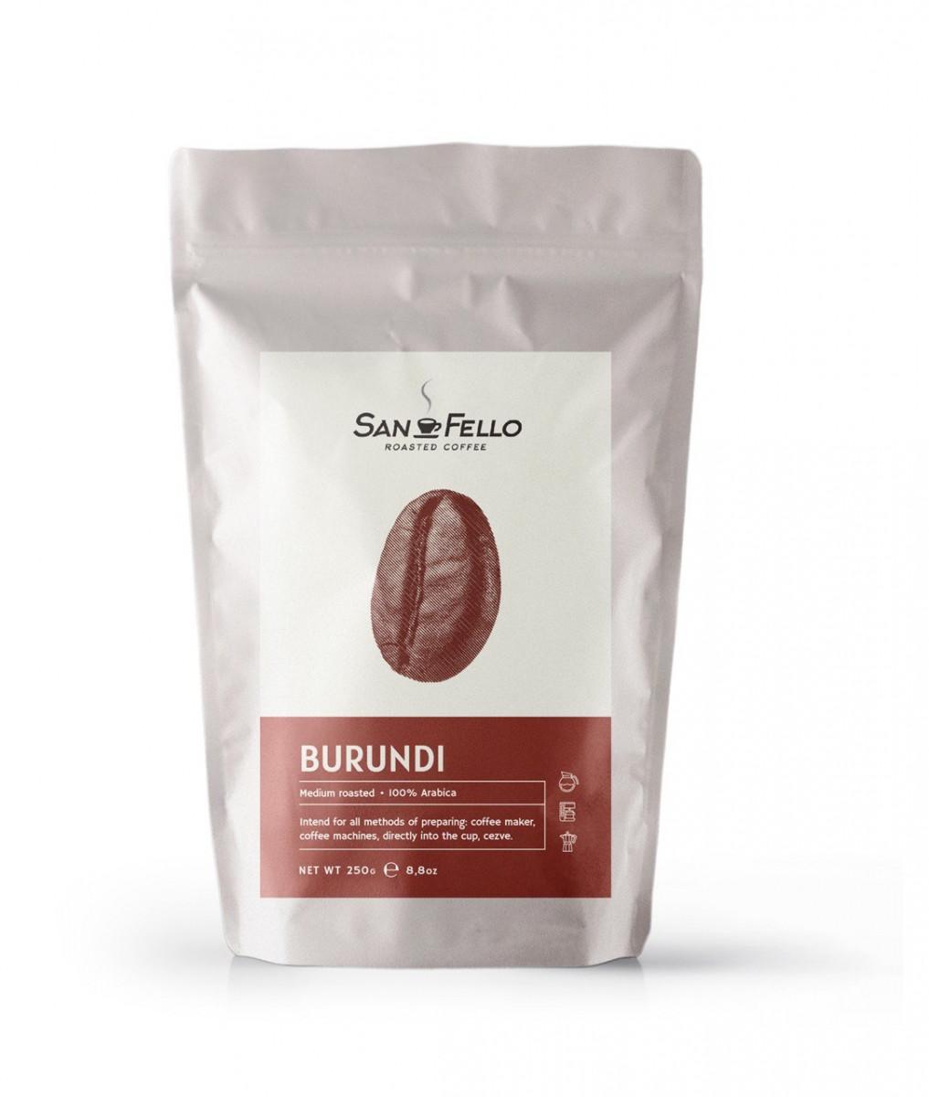Арабика 100% Кофе в зернах свежая обжарка Burundi 250 грамм