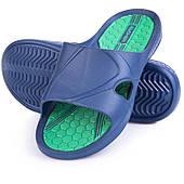 Шлепанцы пляжные мужские Spokey Orbit, синие с зеленым 40